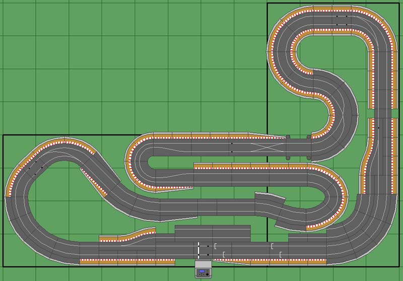 digital slot car track plans