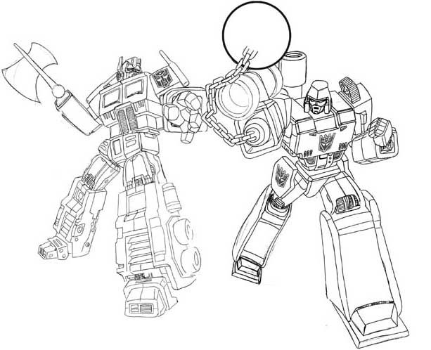 battle transformers coloring coloring pages