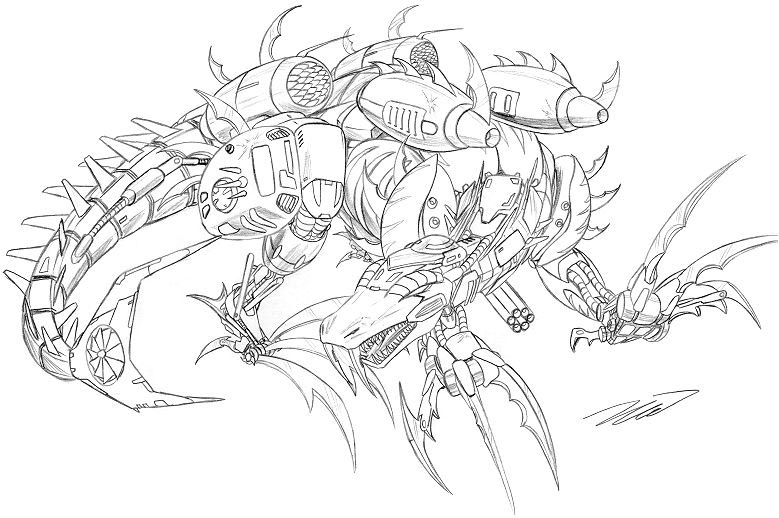 Dinobot Scorn Coloring Pages Coloring Pages